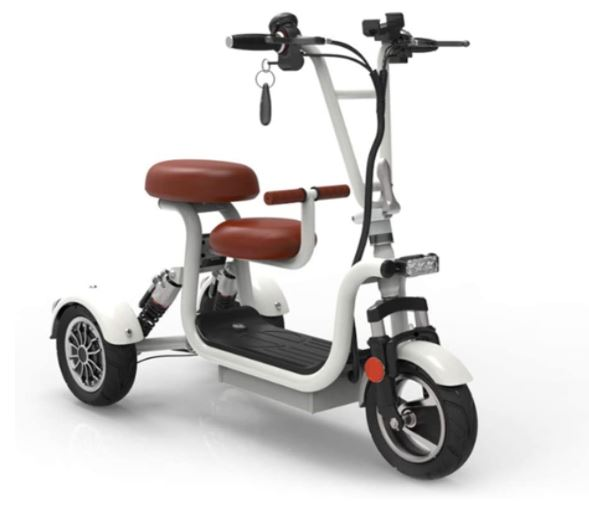 Folding electric tricycle scooter